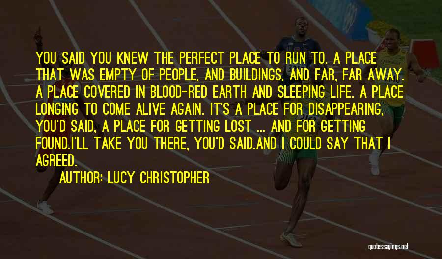 Running On Empty Quotes By Lucy Christopher