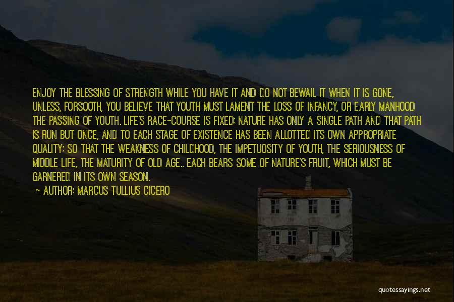 Running The Race Of Life Quotes By Marcus Tullius Cicero