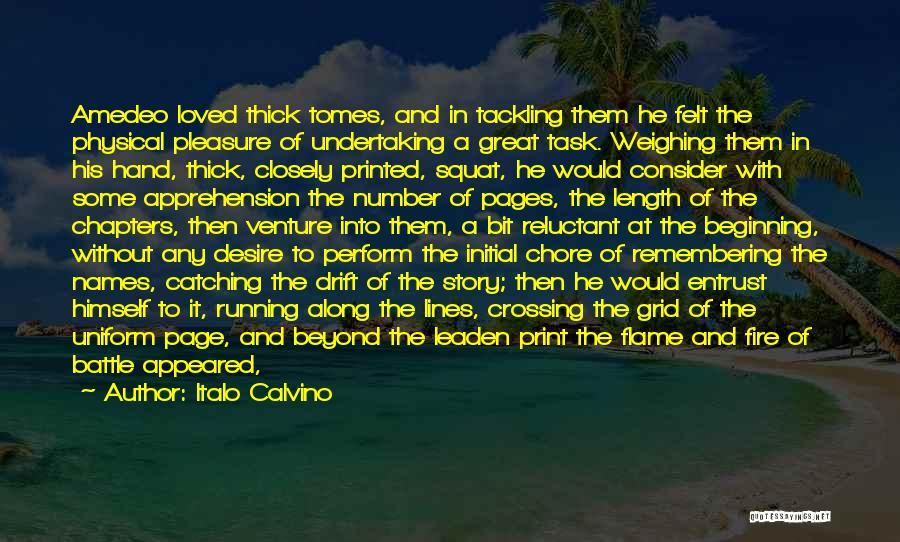 Running Through Life Quotes By Italo Calvino