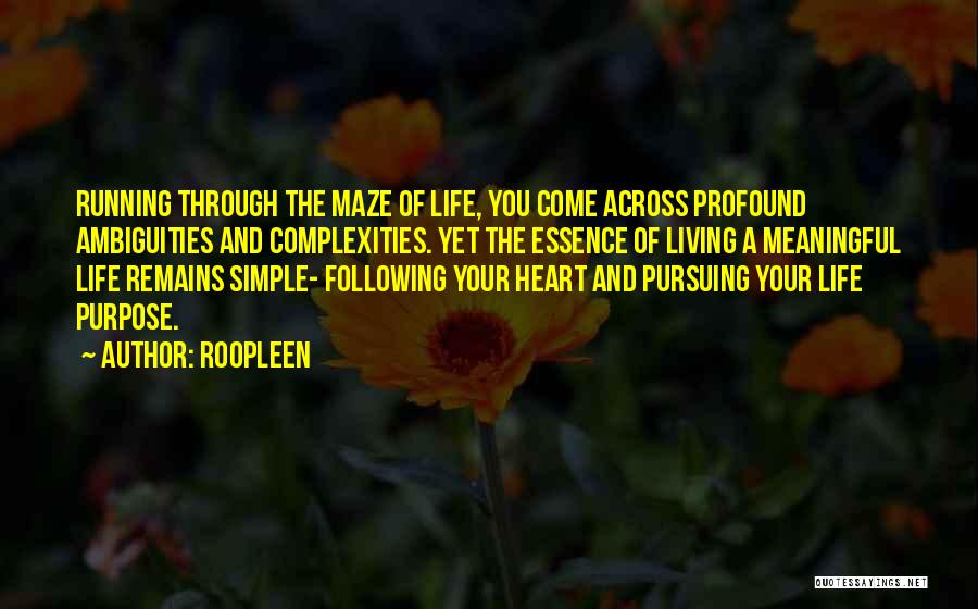 Running Through Life Quotes By Roopleen