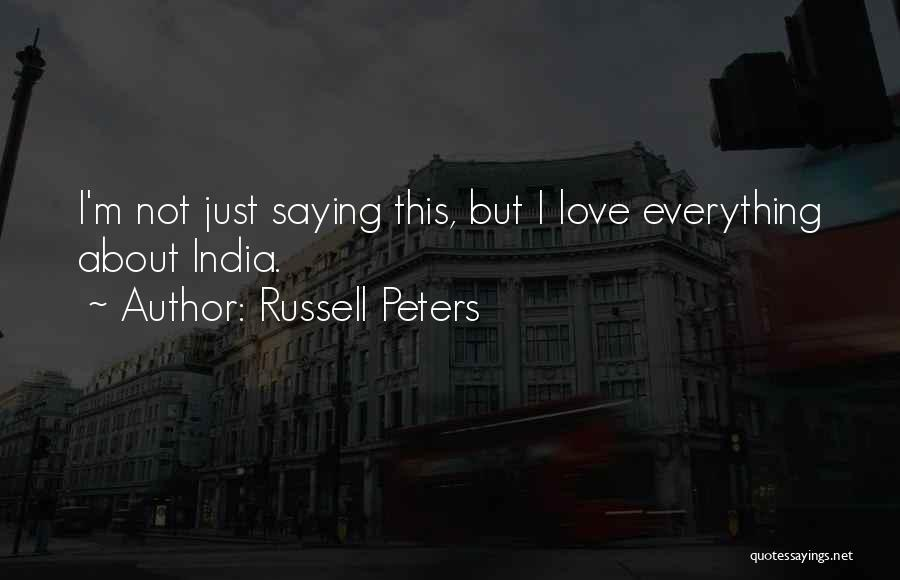 Russell Peters Quotes 101404