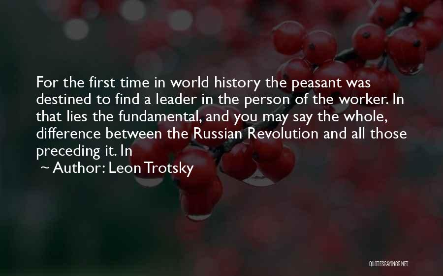 Russian History Quotes By Leon Trotsky