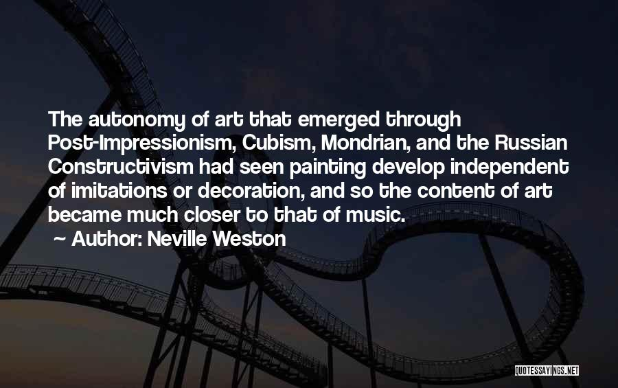 Russian Music Quotes By Neville Weston