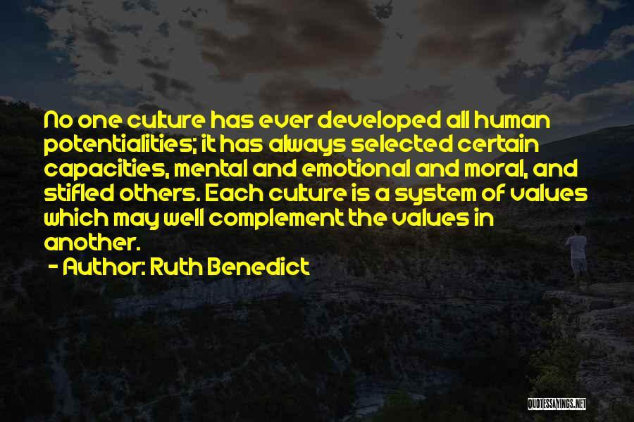 Ruth Benedict Quotes 421697