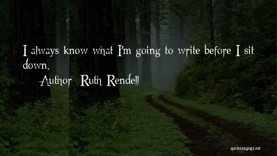 Ruth Rendell Quotes 1842064