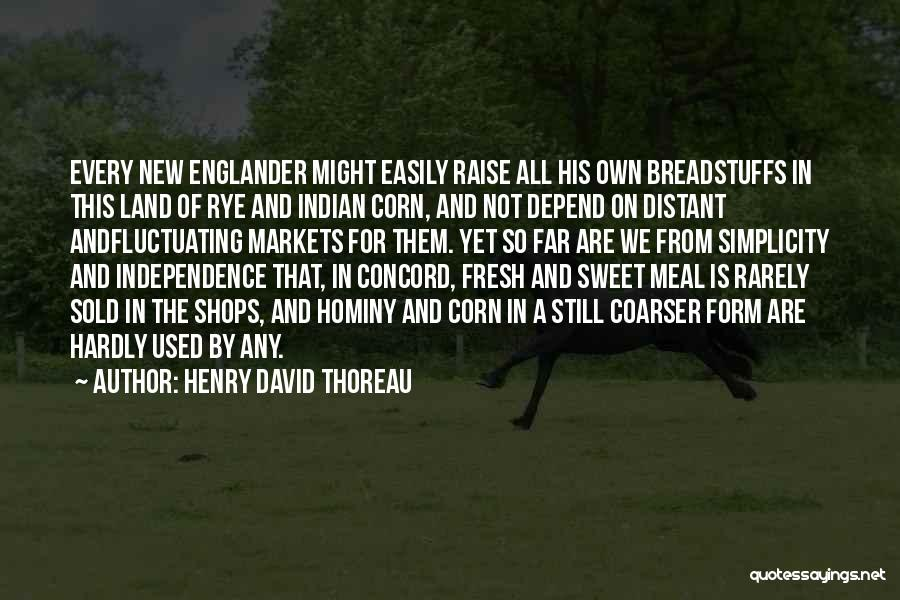 Rye Quotes By Henry David Thoreau