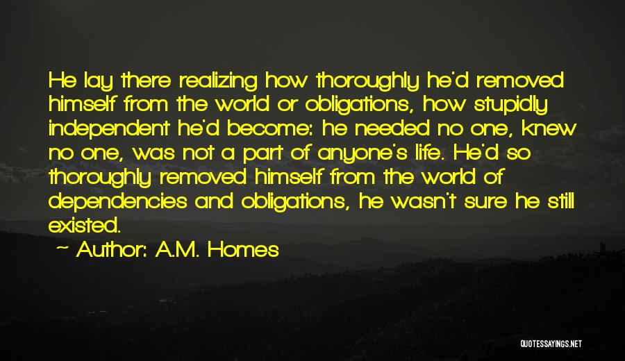S.a.d Quotes By A.M. Homes