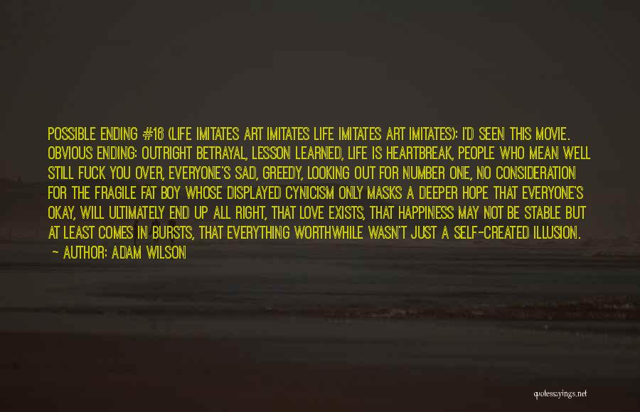 S.a.d Quotes By Adam Wilson