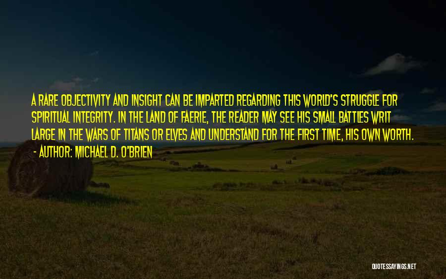 S.a.d Quotes By Michael D. O'Brien