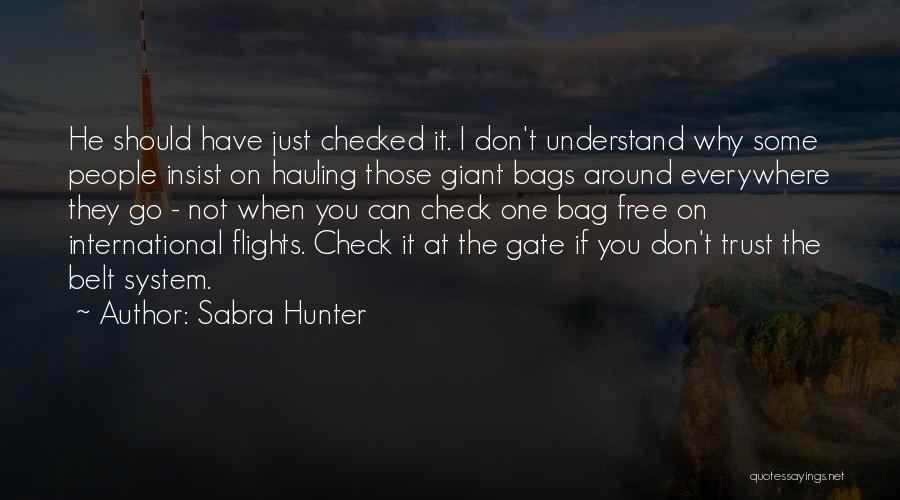 Sabra Hunter Quotes 1330898