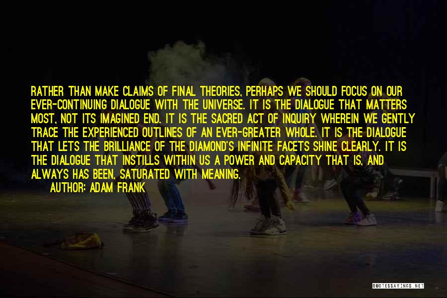 Sacred Quotes By Adam Frank