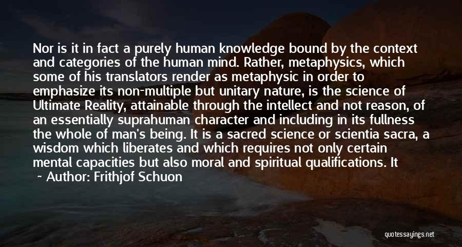 Sacred Quotes By Frithjof Schuon