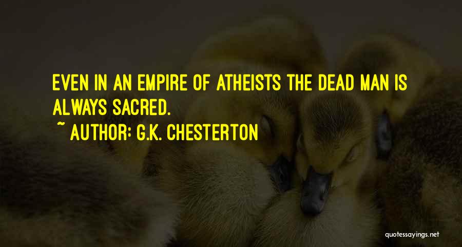 Sacred Quotes By G.K. Chesterton