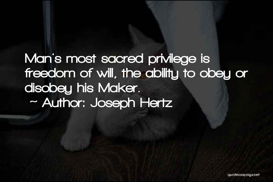 Sacred Quotes By Joseph Hertz