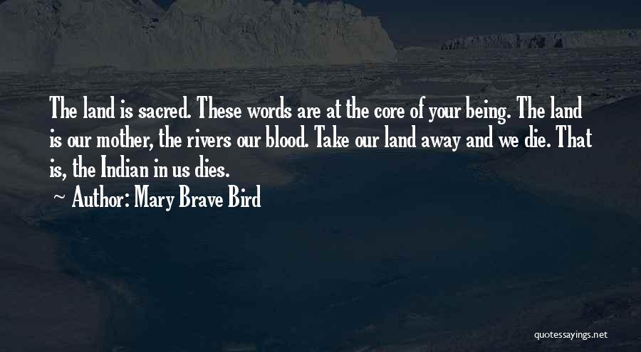 Sacred Quotes By Mary Brave Bird