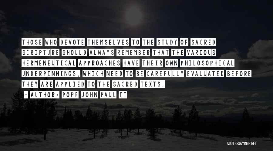 Sacred Quotes By Pope John Paul II
