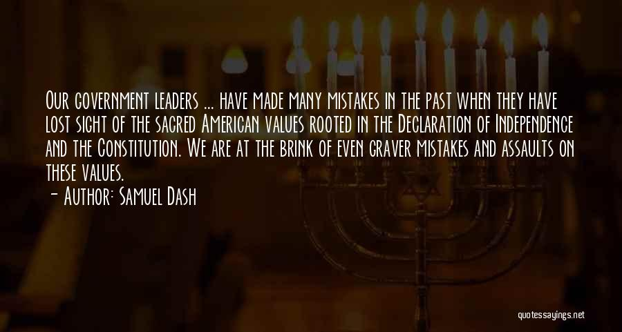 Sacred Quotes By Samuel Dash
