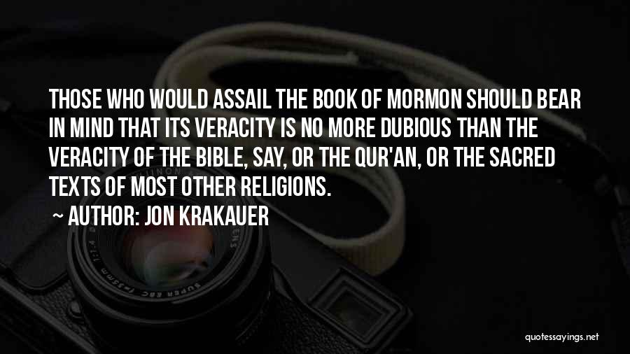 Sacred Texts Quotes By Jon Krakauer