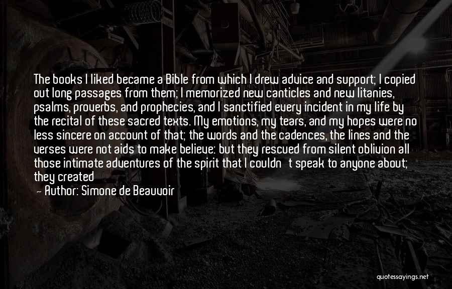 Sacred Texts Quotes By Simone De Beauvoir