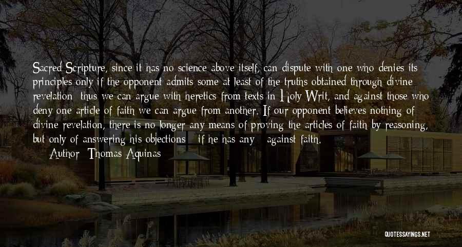 Sacred Texts Quotes By Thomas Aquinas