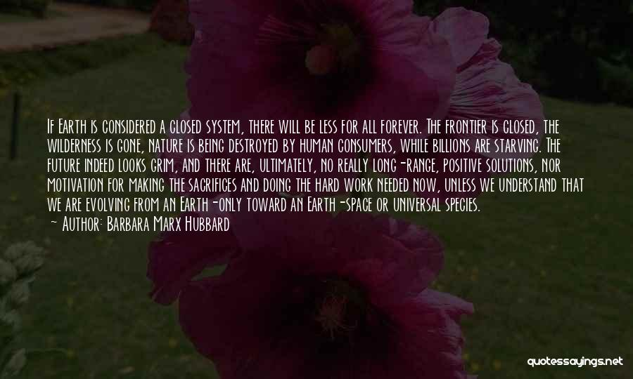 Sacrifice And Hard Work Quotes By Barbara Marx Hubbard