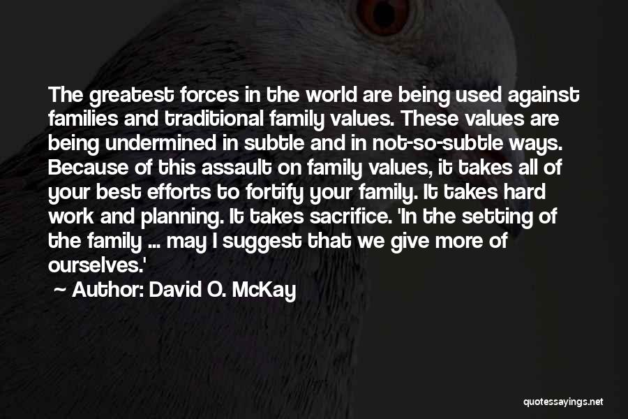 Sacrifice And Hard Work Quotes By David O. McKay