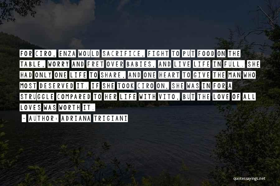 Sacrifice And Struggle Quotes By Adriana Trigiani