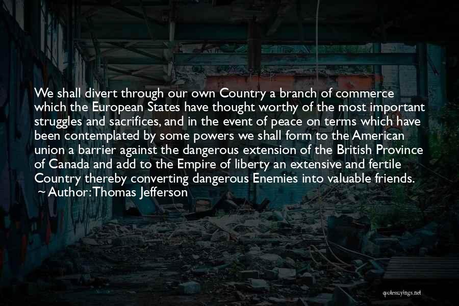 Sacrifice And Struggle Quotes By Thomas Jefferson