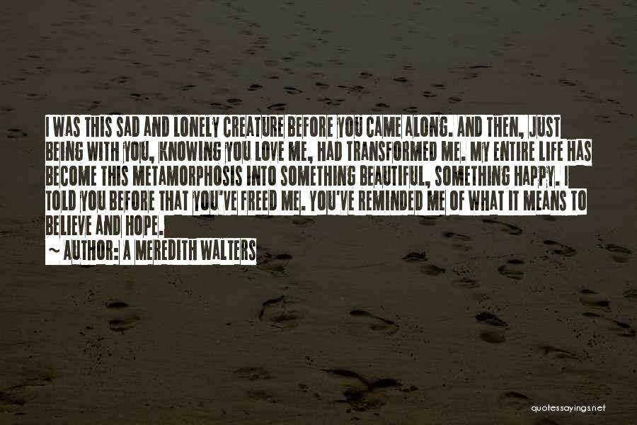 Sad And Happy Love Quotes By A Meredith Walters
