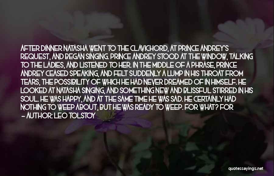 Sad And Happy Love Quotes By Leo Tolstoy