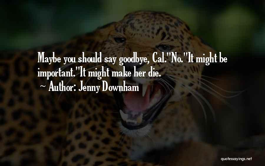 Sad Goodbye Death Quotes By Jenny Downham