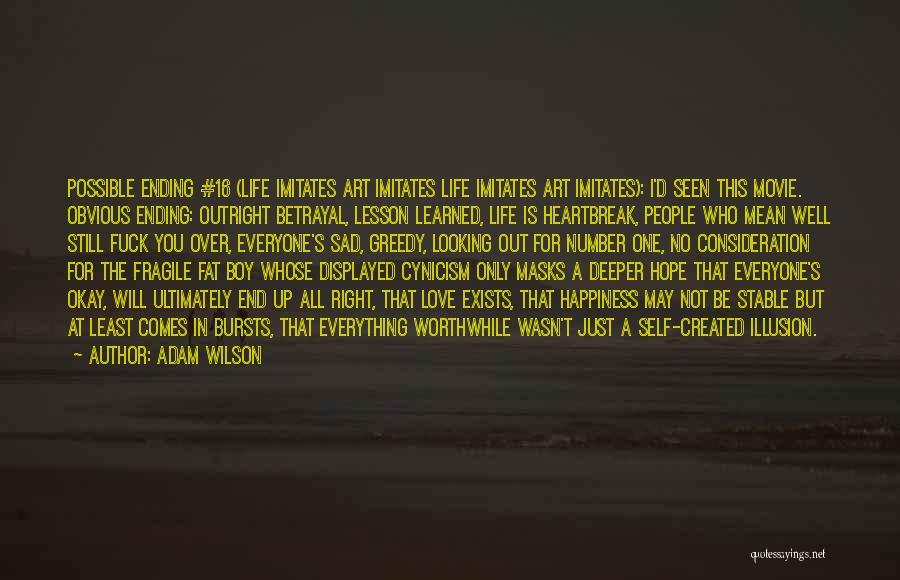 Sad Quotes By Adam Wilson