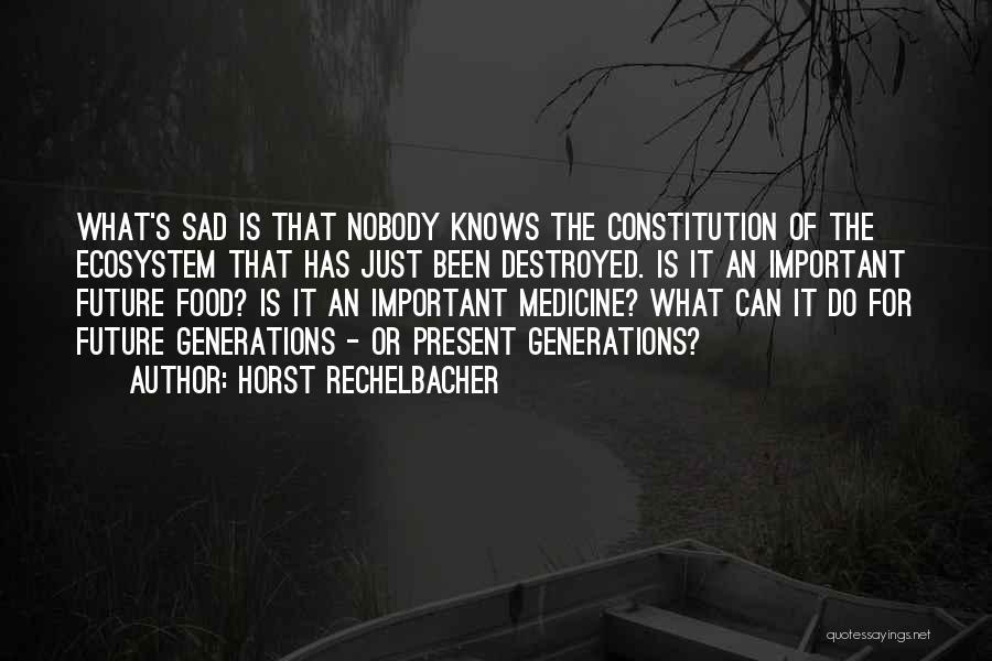 Sad Quotes By Horst Rechelbacher