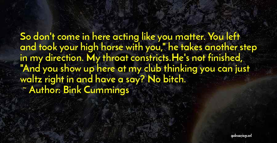 Sad Thinking Quotes By Bink Cummings