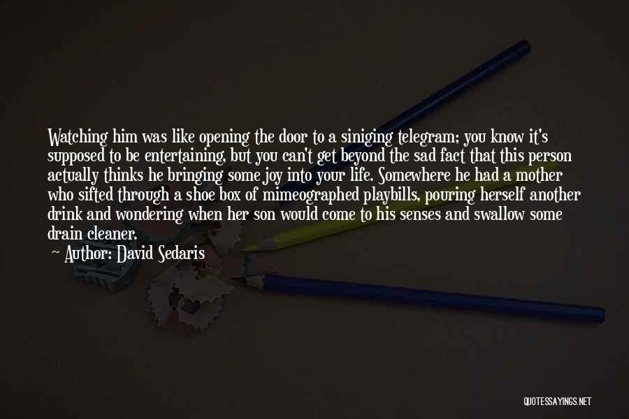 Sad Thinking Quotes By David Sedaris