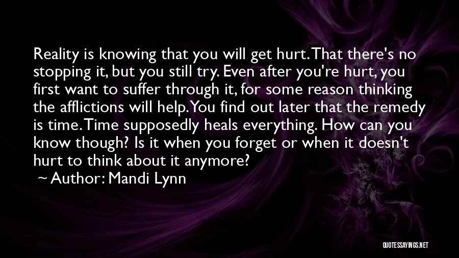 Sad Thinking Quotes By Mandi Lynn