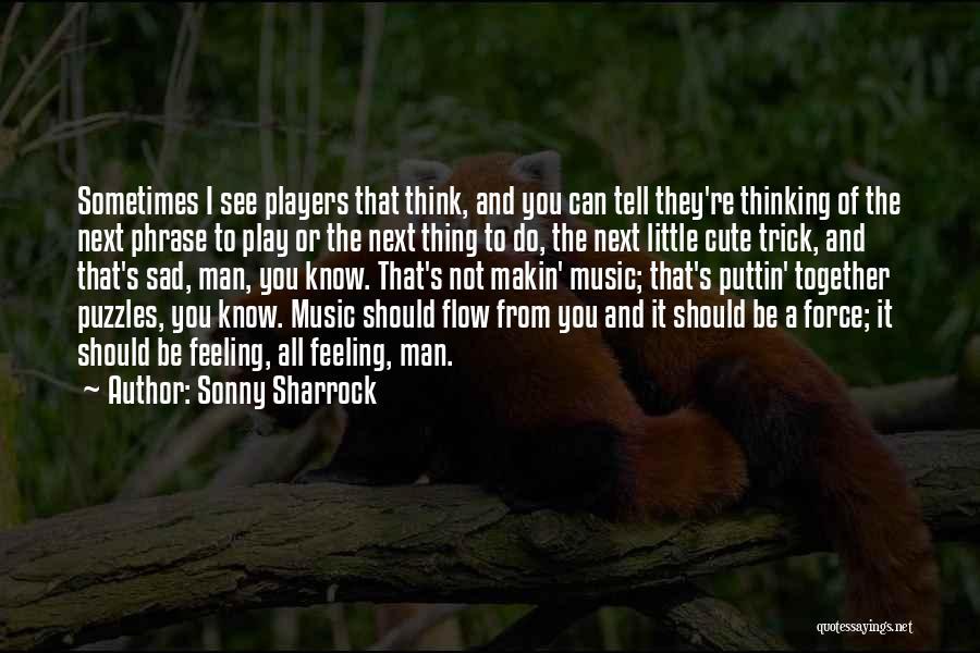 Sad Thinking Quotes By Sonny Sharrock