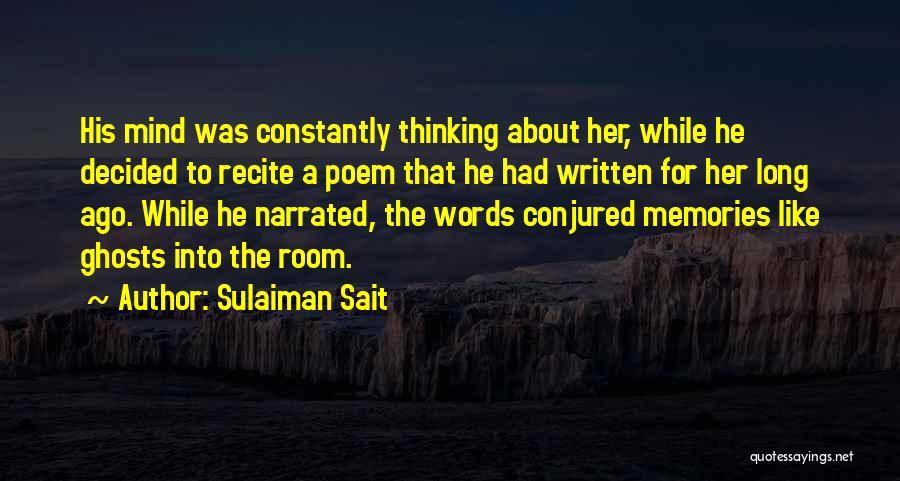 Sad Thinking Quotes By Sulaiman Sait