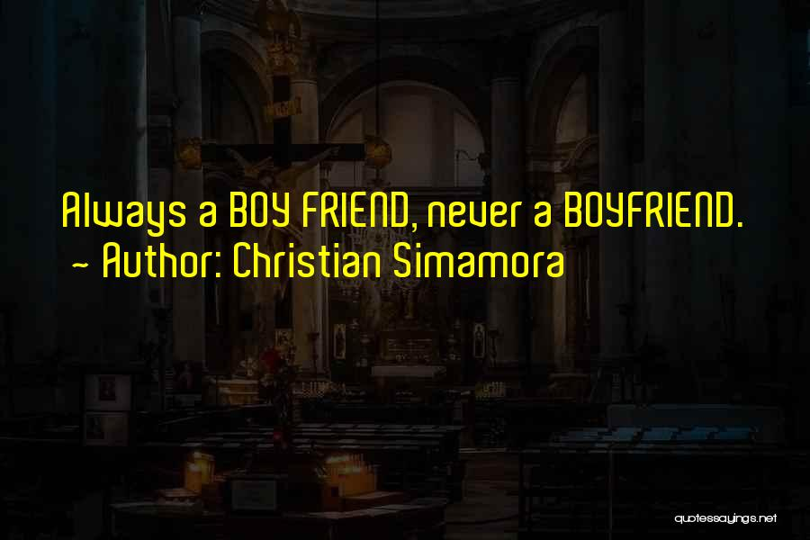 Sad With Boyfriend Quotes By Christian Simamora