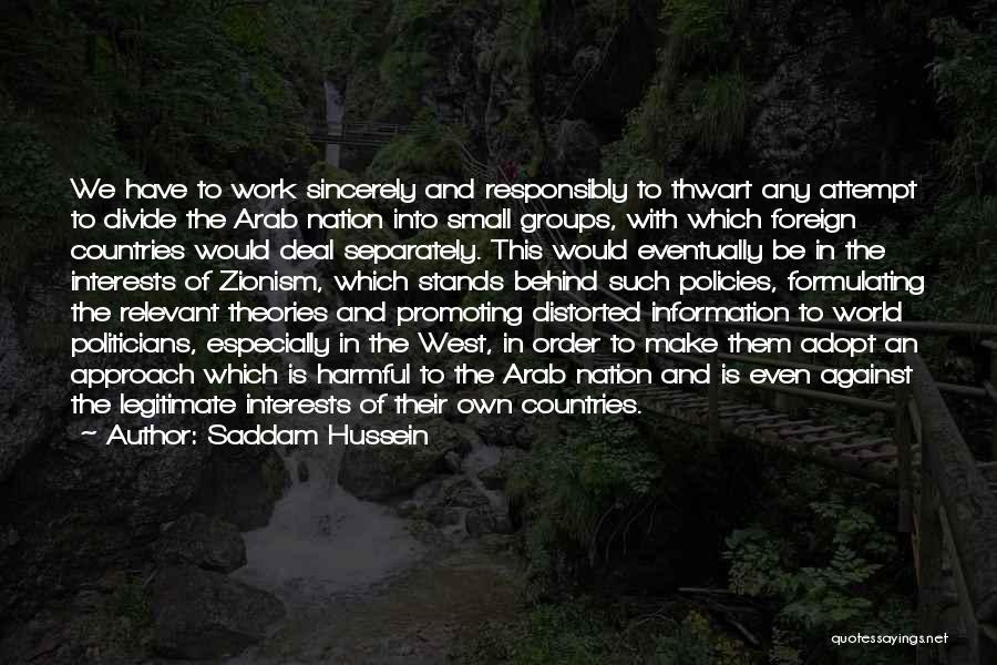 Saddam Hussein Quotes 1439678