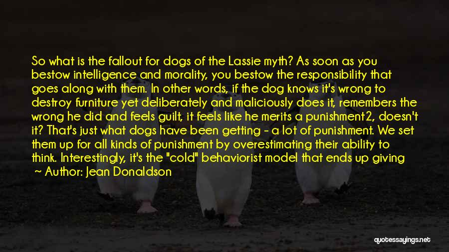 Saddest Dog Quotes By Jean Donaldson