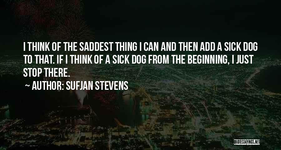 Saddest Dog Quotes By Sufjan Stevens
