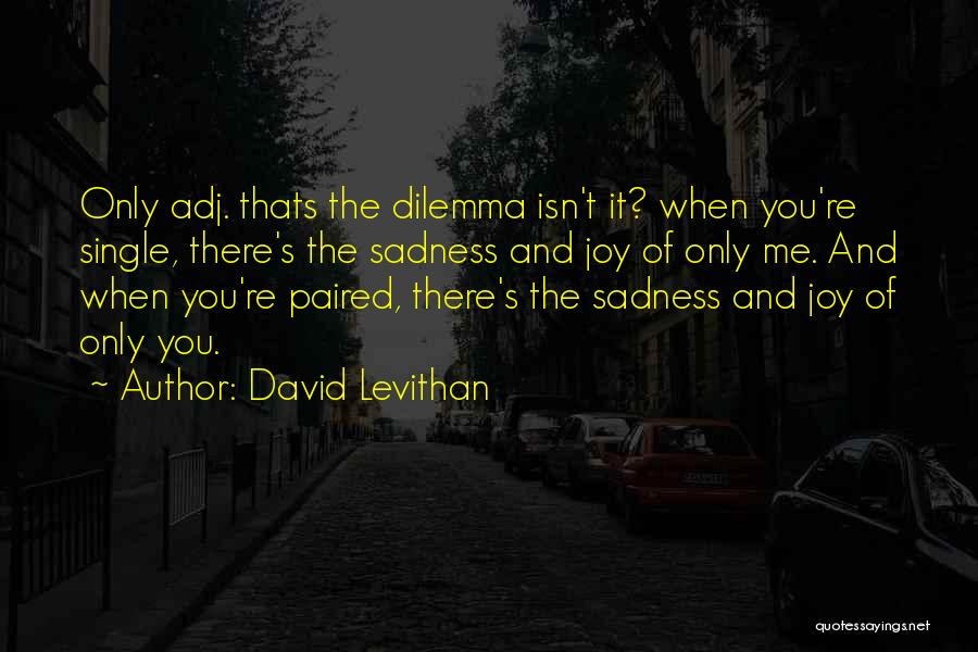 Sadness And Joy Quotes By David Levithan