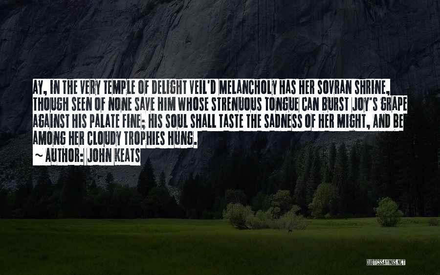 Sadness And Joy Quotes By John Keats