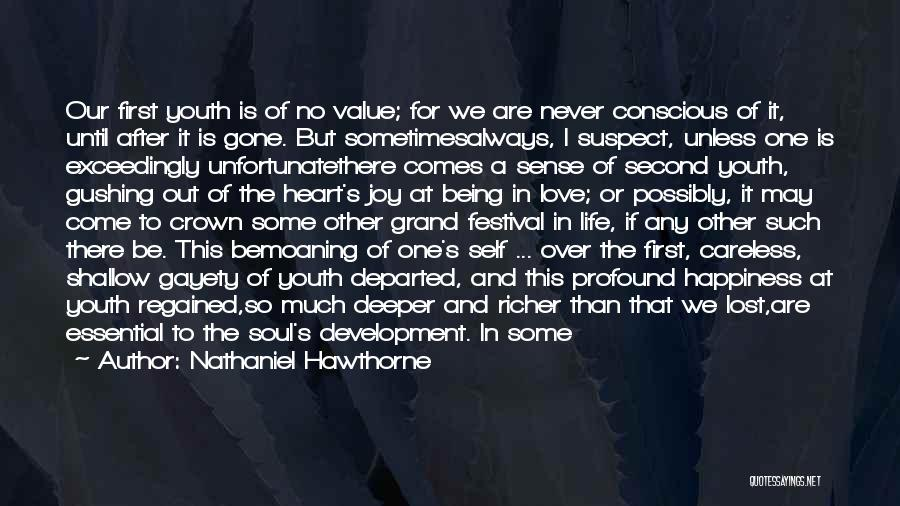 Sadness And Joy Quotes By Nathaniel Hawthorne