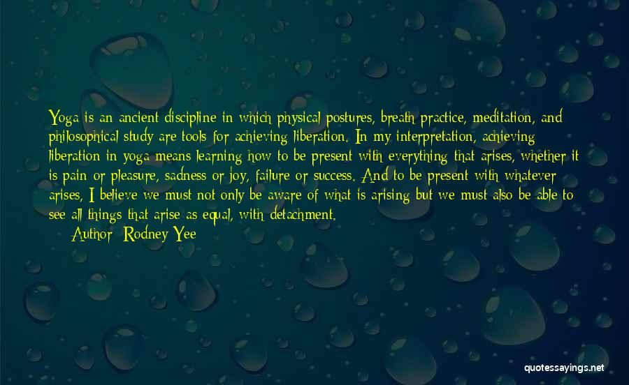 Sadness And Joy Quotes By Rodney Yee