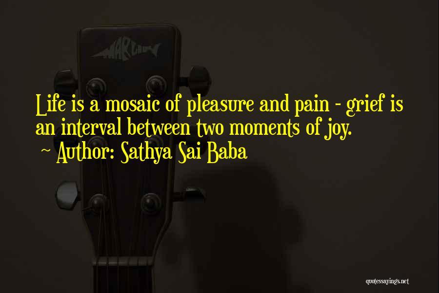 Sadness And Joy Quotes By Sathya Sai Baba