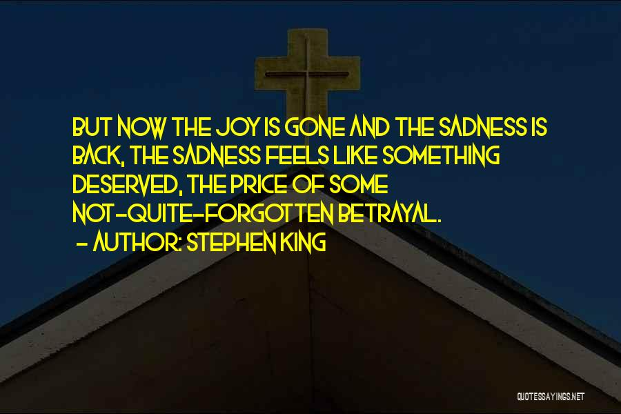 Sadness And Joy Quotes By Stephen King
