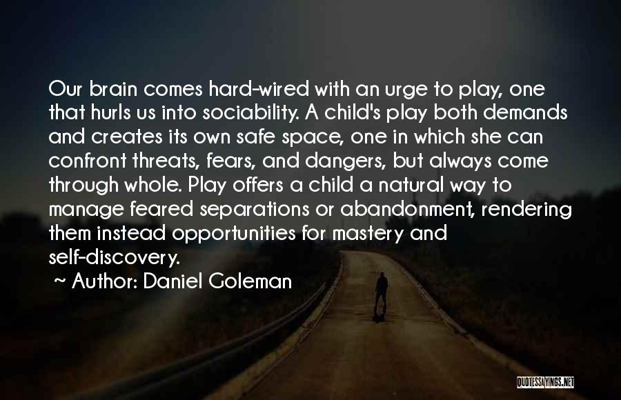 Safe Space Quotes By Daniel Goleman