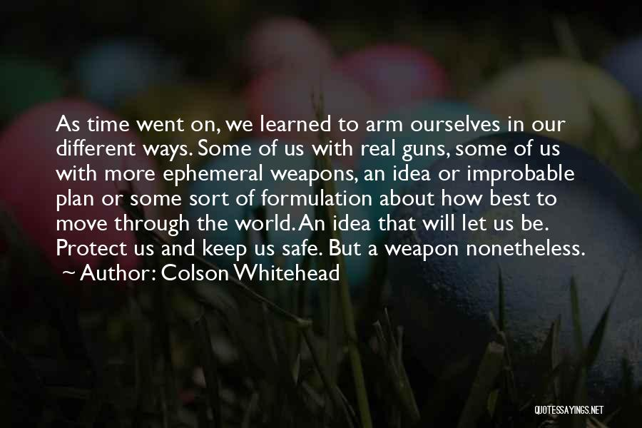 Safety And Protection Quotes By Colson Whitehead